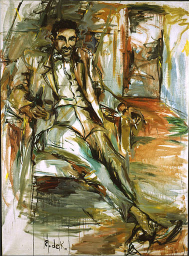 Elaine de Kooning, Harold Rosenberg (1956, Washington, D.C., National Portrait Gallery).