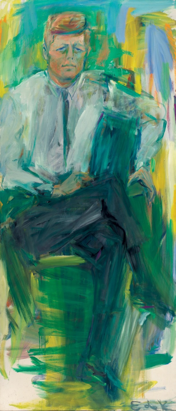 Elaine de Kooning, John F. Kennedy, 1963, oil on canvas, National Portrait Gallery, Smithsonian Institution © Elaine de Kooning Trust