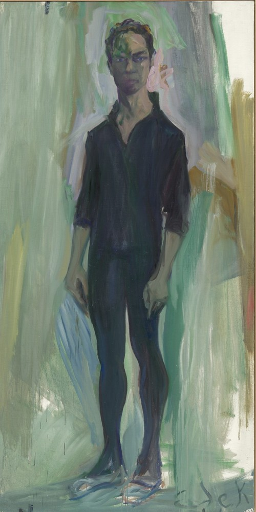 Elaine de Kooning, Merce Cunningham, 1962, oil on canvas, National Portrait Gallery, Smithsonian Institution; gift of the Foundation for Contemporary Performance Arts, Inc. © Elaine de Kooning Trust