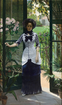 Albert Bartholomé, In the Conservatory, c. 1881, Musée d'Orsay, Paris
