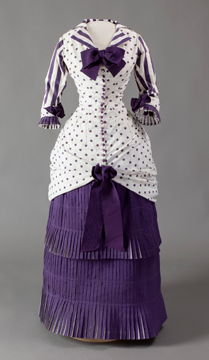 Summer dress worn by Madame Bartholomé in the painting In the Conservatory, French, 1880, Musée d'Orsay, Paris