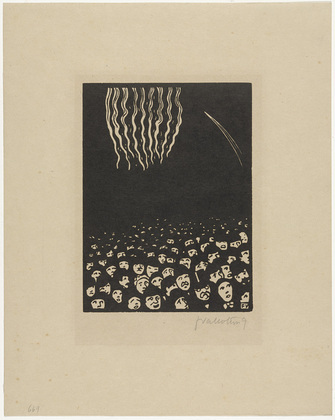 Félix Vallotton (French, 1865–1925), Fireworks (plate VI) from The World's Fair (L'Exposition Universelle) , 1901, Woodcut