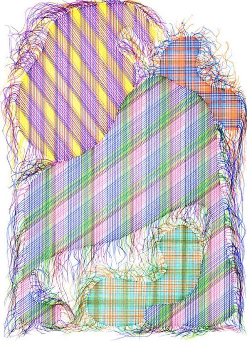 Steven Vasques Lopez, Patches 016, 2013, Ink on paper
