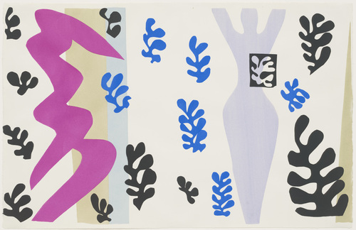 The Knife Thrower (Le Lanceur de couteaux) from Jazz Henri Matisse (French, 1869–1954), The Knife Thrower (Le Lanceur de couteaux) from Jazz, 1947, One from a portfolio of twenty pochoirs